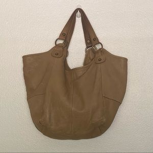 TANO Pebbled Leather Hobo Shoulder Bag